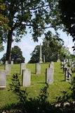 Confederado do cemitério da madeira de carvalho inoperante de Gettysburg Imagens de Stock Royalty Free