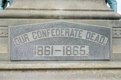Confederate мертвый Стоковые Изображения