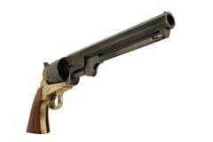 Confederate 1851 .44 Caliber Navy Pistol Right. Confederate 1851 .44 Caliber Colt Navy Black Powder Pistol Right side Stock Image