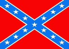 флаг confederate Стоковая Фотография RF