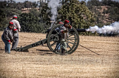 Confederate Artillery Battery Royalty Free Stock Images