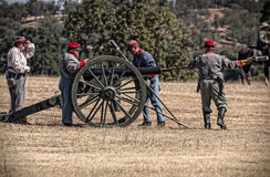 Confederate Artillery Battery Stock Image
