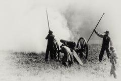 Confederate artillery firing Stock Image