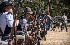 Confederate Battle Line Royalty Free Stock Photography