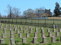Confederate Battleground Plantation stock photo