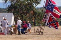 Confederate Camp Stock Photo