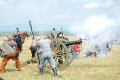 Confederate cannon attack Royalty Free Stock Photography