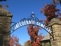 Confederate Cemetery Historic Entry Arch Fayetteville Arkansas royalty free stock photography
