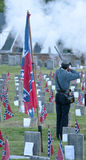 Confederate cemetery with salute to the dead Royalty Free Stock Photos