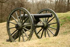 Confederate Civil War cannon. One of the cannons used by the Confederate army in the battle of Vicksburg Royalty Free Stock Photos