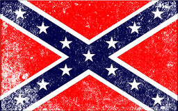 Confederate Civil War Flag. The flag of the confederates during the American Civil War Stock Photography