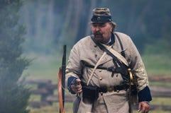 Confederate Commander Stock Image
