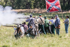Confederate Firing Line Royalty Free Stock Image