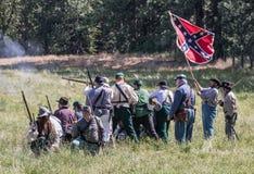 Confederate Firing Line Stock Photo
