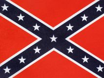 Confederate Flag. The Confederate Flag of the thirteen Confederate states Of  America used during the American Civil War, which is often known as the Battle Flag Stock Photography