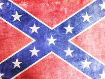 Confederate flag. Background texture in grunge style Royalty Free Stock Photo