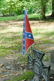 Confederate Flag. Confederate battle flag at grave of Confederate soldier near Beaufort, South Carolina Stock Images