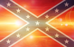 Confederate flag. On bright sunny sky Royalty Free Stock Photos