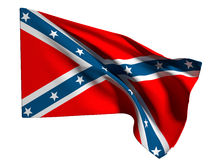 Confederate flag Stock Photo