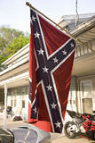 Confederate flag displayed Royalty Free Stock Photo