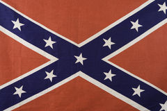 Confederate Flag. Isolated cloth confederate battle flag Royalty Free Stock Photo