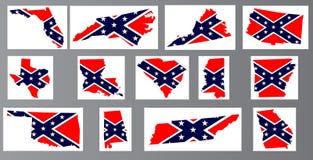 Confederate Flag Maps Stock Photo