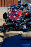 Confederate Flag. On motorcycle at bike rally Stock Photography