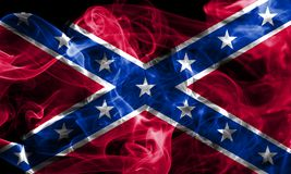 Confederate flag, Navy Jack smoke flag.  Stock Images