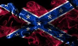 Confederate flag, Navy Jack smoke flag.  Stock Photography