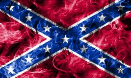 Confederate flag, Navy Jack smoke flag.  Royalty Free Stock Images