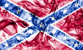 Confederate flag, Navy Jack smoke flag. On a white background Stock Photo