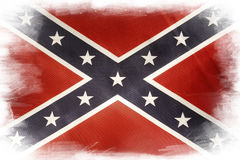 Confederate flag. On plain background Royalty Free Stock Photography