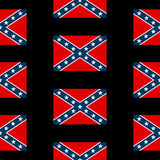 Confederate flag seamless pattern Royalty Free Stock Photos