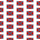 Confederate flag seamless pattern Stock Image