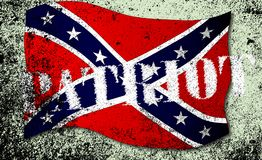 Patriot Confederate Flag. Confederate flag, with the text patriot over a grunge effect vector illustration