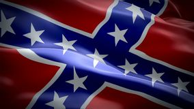 Dixie Flag Video Waving In Wind Realistic Rebel Flag Background