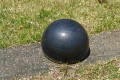 Confederate Grave Marker. This cannonball marks the border of a mass Confederate gravesite at Shiloh National Military Park Stock Photography