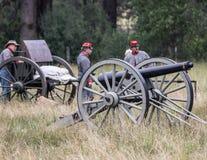 Confederate Gun Crew Stock Photo