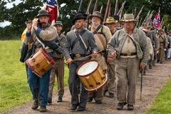 Confederate Infantry, Worcestershire, England. Royalty Free Stock Image