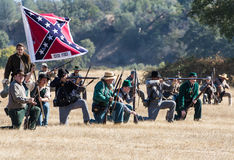 Confederate Line of Attack Royalty Free Stock Photo
