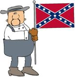 Confederate man Stock Photo