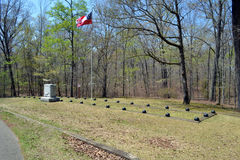 Confederate Mass Gravesite. A mass Confederate gravesite at Shiloh National Military Park Stock Photography