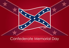 Confederate Memorial Day. Festive vector illustration. Background with confederate flag. Public holiday in the USA Stock Photography