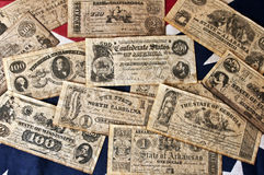 Confederate Money Royalty Free Stock Photography