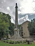 Confederate Monument on Union Square in Raleigh, North Carolina. Confederate Monument - This monument is in remembrance of North Carolina`s Confederate dead royalty free stock photo