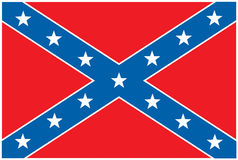 Confederate Rebel Flag Royalty Free Stock Images