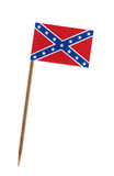 Confederate rebel flag. Tooth pick wit a small paper Confederate rebel flag Royalty Free Stock Image