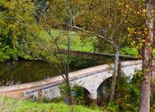 Good Morning Burnside Bridge. The Confederate side of Burnside Bridge at Antietam, in Sharpsburg, Maryland. This is a famous bridge from the battle of Antietam stock image