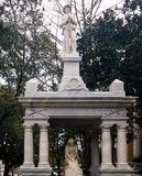 Confederate Soldier Memorials in the South. Confederate soldier memorial for the fallen heroes. Top memorial depicts a soldier with rifles and the bottom of a stock images