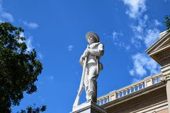 Confederate Soldier Statue royalty free stock images